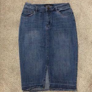 🌺Knee length slim Denim skirt 2